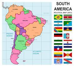 Columbia South America Map Latin America Map With Flags Latin America Map With Flags