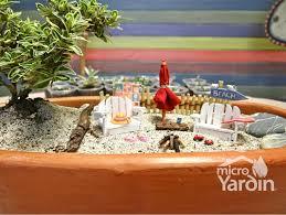 miniature garden jardin miniatura afternoon at the beach tarde