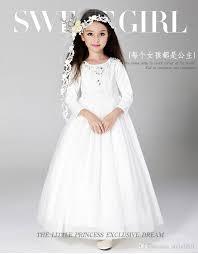 2017 kids wedding dresses pageant party dresses performance