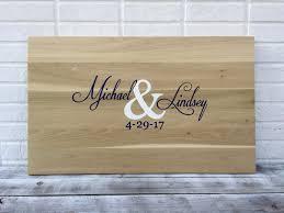 alternative wedding gift registry ideas sale wedding guestbook board with pen wood guest book idea