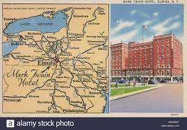Buffalo State Map by Mark Twain Hotel And Map Elmira New York State Usa Date Stock