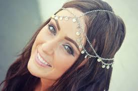 chain headpiece chain headpiece chain silver disc chain