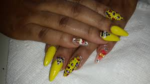 yellow stiletto nails with 3d candy nail art design youtube