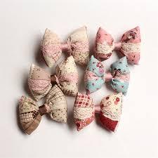 handmade hair bows online shop 18pcs lot cotton retro style kids bow colors