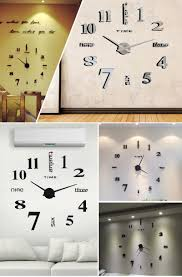 on sale mq005 mirror analog large quartz clocks fashion watches 3d