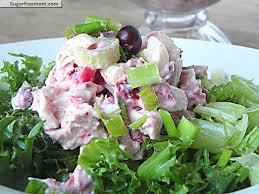 Salad Thanksgiving Mayo Free Cranberry Turkey Salad