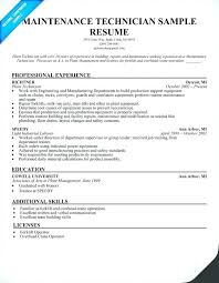maintenance technician resume maintenance resumes general maintenance resume maintenance resumes