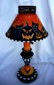 artistic halloween queens hand painted vintage metal halloween lamp