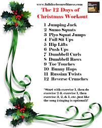the amazing 12 day of christmas workout this workout is fantastic