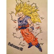 goku super saiyan 3 dragon ball drawing adreamer96 deviantart