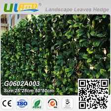 uland artificial plants hedge greenery panels plastic fence wall