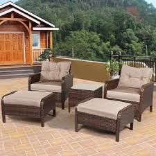 Wicker Patio Table Set Wicker Patio Furniture Outdoor Seating Dining For Less