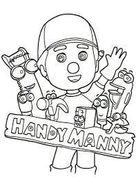 handy manny ad friends coloring handy manny ad