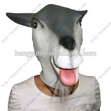 Sheep Halloween Costume Halloween Cosplay Costume Realistic Goat Mask Rubber Sheep Head