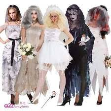 Zombie Bride Groom Halloween Costumes Zombie Bride Women U0027s Fancy Dress Ebay