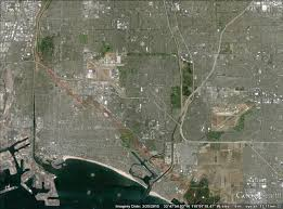 Map Of Long Beach What Is The Average Lateral Fault Displacement Of The