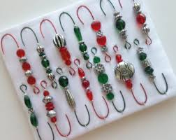 just hang on beaded ornament hanger hooks by justhangon