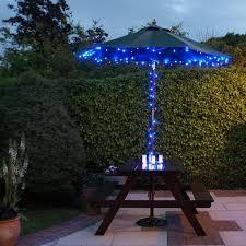 Solar Patio Umbrella Outdoor Led Garden Lighting Innoo Tech Solar String Plus Homemade