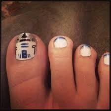 r2d2 star wars toe nail art nail art gallery pinterest toe
