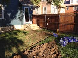 building a low ground cedar deck before and after brookside