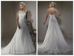 One Shoulder Wedding Dress A Line Wedding Dresses With One Shoulder Neckline And Corset