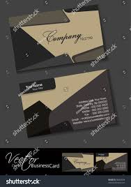 professional business card set template visiting stock vector