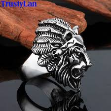 allergy free jewelry trustylan stainless steel lion rings for men allergy free