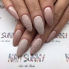23 elegant nail art designs for prom 2017 sugar glitter almond