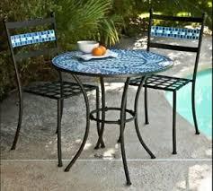 Wrought Iron Patio Chair Outdoor Bistro Set Wrought Iron Patio Furniture Mosaic Tile Porch