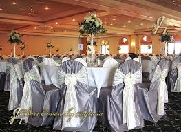 silver chair covers chicago chair covers for rental in mist silver in the lamour satin