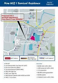 map usj 1 serviced residence for sale at usj 1 usj for rm 409 450 by kimlee