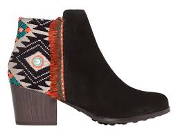 s shoes boots uk desigual black indian country boots and booties s shoes