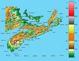 africa map elevation scotia elevation map scotia mappery