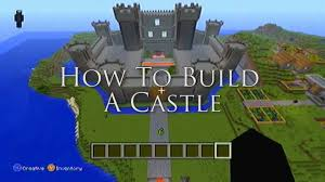 minecraft ideas how to build a castle youtube