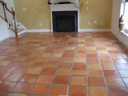 terra cotta tile with typical color variations terracotta floor
