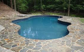 swimming pool awesome backyard landscaping decoration using blue