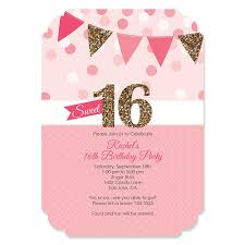 sweet 16 invitations sweet 16 personalized birthday party invitations