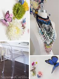 Butterfly Office Decor Butterfly Floral Wall Treatment U0026 Home Office Decor Ideas