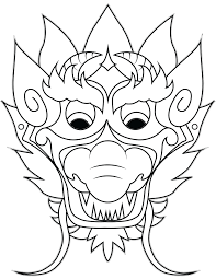 chinese dragon coloring pages easy chinese dragon mask coloring page newyork rp com