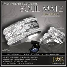 wedding ring set for him and second marketplace wedding ring set his hers celtic