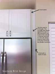 how to trim cabinet above refrigerator ikea s the fridge cabinet southern design