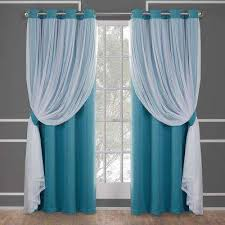 Turquoise Sheer Curtains Turquoise Curtains Drapes Window Treatments The Home Depot