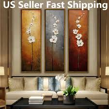 3pcs colorful flower canvas abstract painting print art wall home