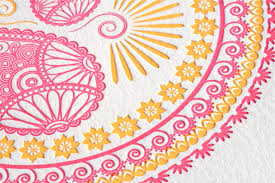 Design Patterns For Invitation Cards Indian Pattern Letterpress Wedding Invitations