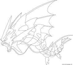 mega gyarados pokemon coloring pages printable