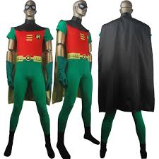 cape for halloween costume dc comics teen titans go superhero robin suit cosplay