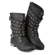 womens motorcycle boots size 12 twisted s lace up boot bree01 black