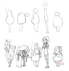 character shape sketching 3 with video link by luigil deviantart
