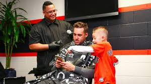 astros u0027 springer young fan get matching haircuts abc13 com