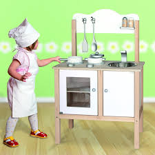 childrens kids wooden pretend play kitchen toy play set oven sink